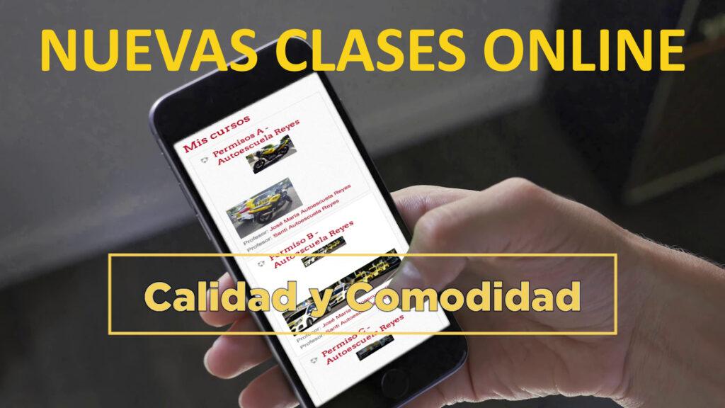 nuevas clases online de la autoescuela reyes