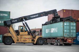 construction site crane pier container 830299