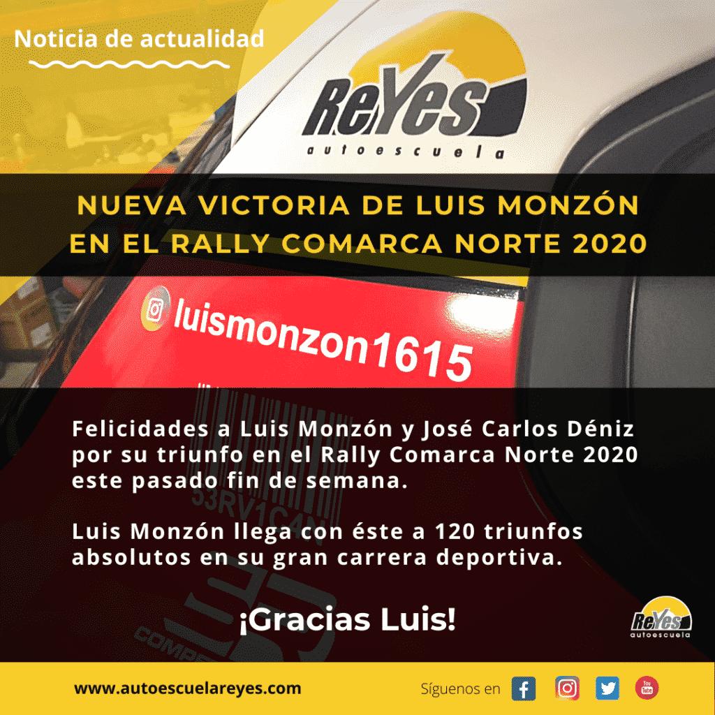 luis monzon gana el rally comarca norte