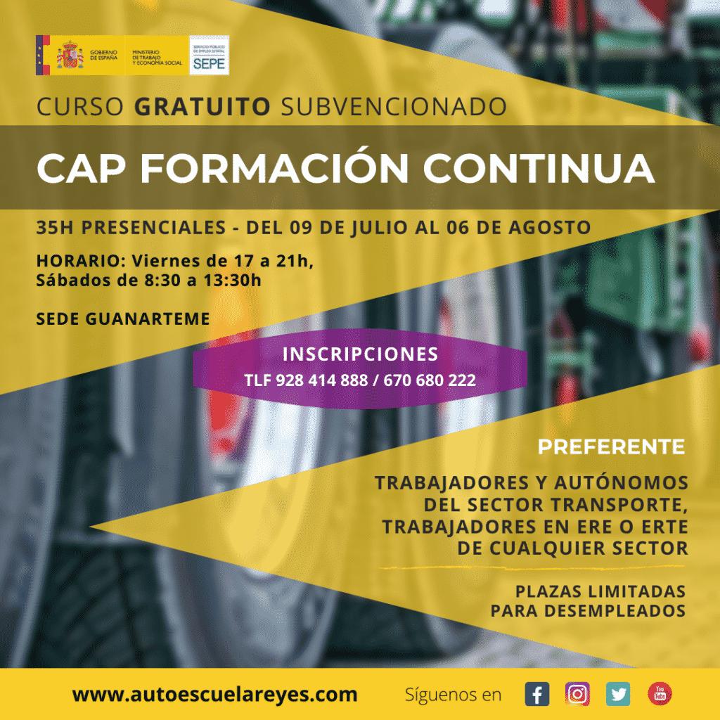 CURSO CAP FORMACION CONTINUA AUTOESCUELA REYES GUANARTEME