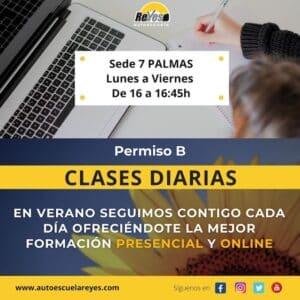 Clase diarias permiso B Autoescuela Reyes