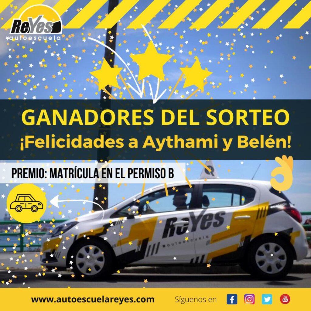 Publicados los ganadores del sorteo de la matrícula gratis en el permiso b de la autoescuela reyes.